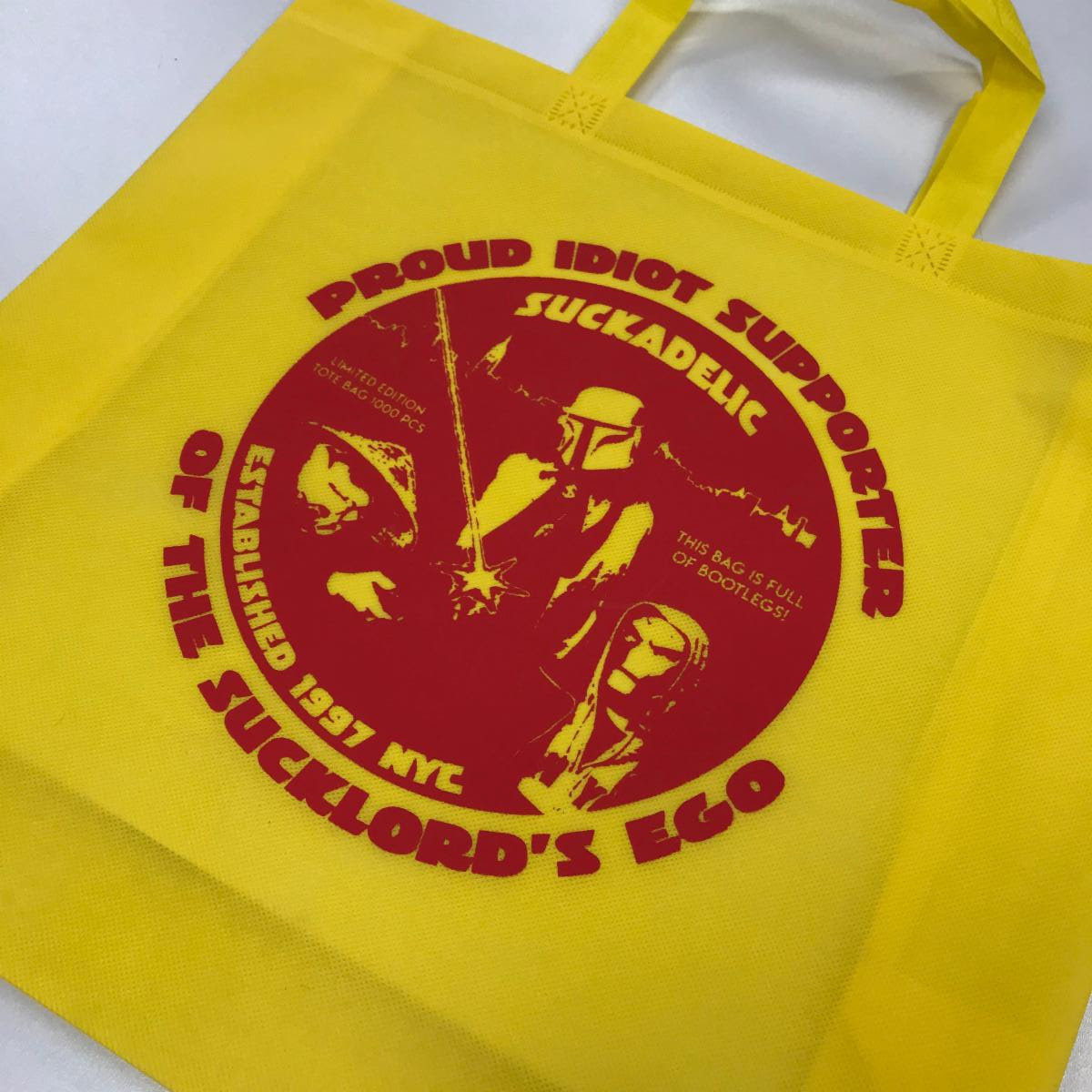 Free Suckadelic tote bag with purchase! (front pictured)